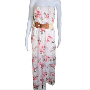 ARDENE. Floral. Belted. Maxi. Dress